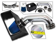 BCP BLUE 09-15 Dodge Ram 1500 2500 3500 5.7 V8 Heat Shield Intake Kit +Filter