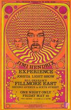 Jimi Hendrix Experince Fillmore East 1968 Concert Poster