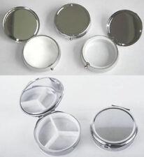 Einfache Metall-Runde Pillendosen Gesunde Container Medizin gute Qualität Neue