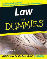 Law for Dummies, 2nd Edition by John Ventura (Paperback, 2005)