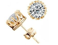 Luxury Gold Plated AAA Swiss Zircon Stud Earrings