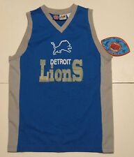 XL 18 Youth Professional Sports Club Detroit Lions Tank Top Jersey Blue new NWT
