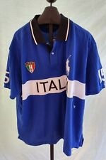 NWT Ralph Lauren Royal Blue & Black Italy Rugby Polo shirt Mens Size 1X Big