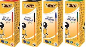 BIC Orange Original Fine Ballpoint Pen blue black red FREE DELIVERY IN UK