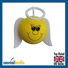 Smiley Guardian Angel Car Aerial Ball Antenna Topper or use as Dashboard Wobbler