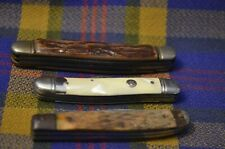 Lot of 3 Vtg Pocket Knives-White IMPERIAL, Stanless Japan, Woodlike IMPERIAL