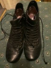 Hush Puppies Vivianna Size 7 Black Leather Victorian Lace up Boots vgc used