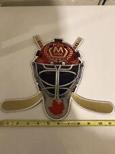 "1786 Molson Canadian Medal Ice Hockey Helmet /Sticks Jersey Patch 11""  New"