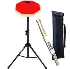 Keepdrum DP-RD SET Practice Pad Rot mit Stativ und Tasche + Drumsticks