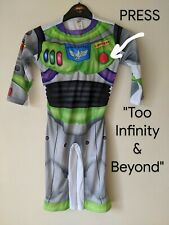 Buzz Lightyear Fancy Dress Sound Effect Button Cosplay Costume Age 2-3 Years