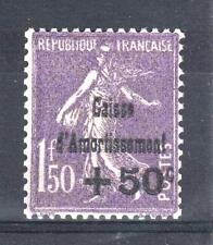 "FRANCE STAMP TIMBRE 268 "" SEMEUSE +50c SUR 1F50  C.A.1930 "" NEUF xx LUXE P441"
