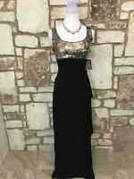Alex Evenings Women's Sz 10 Long Black Sequin Dress NWT