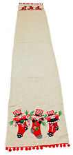 Happy Snowmen in Stockings Table Runner 13x72 inches