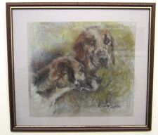 Original Painting Illustration Fox Hounds By Anna Fraser