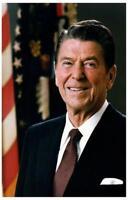 Ronald Reagan Presidential Portrait  Poster Print