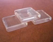 6 Square Glass Tile Cabochons 20mm Clear Flatbacks Flat Back