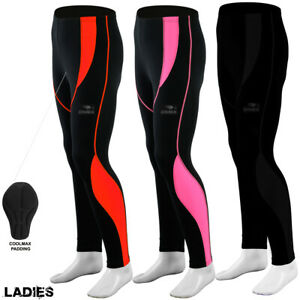Dimex Women Ladies Cycling Tights Padded Compression Leggings Cycle / Trousers