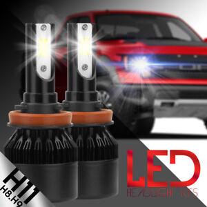 NEW 2x H8 H9 H11 H16 6000k D White 100W LED CREE Headlight Bulb Kit Fog Light