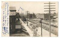 RPPC Trolley on State St HARRISBURG PA Vintage Real Photo Pennsylvania Postcard