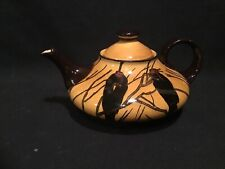 Incredible Antique Royal Doulton 1907 Crow Black Bird Teapot