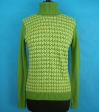 Green Houndstooth Sweater Tommy Hilfiger Flag S Wool Angora Cashmere Cotton