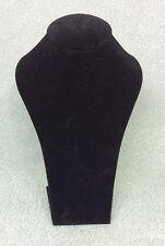 Medium Jewellery Display Upright Bust (Black Suede)