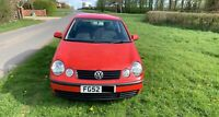 2002 Red VW Polo S 1.4L Petrol