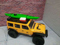 Kayak and Cooler with Roof Rack Green 1/24 scale SCX24  3d printed RC prop USA