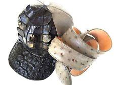 HAT& BELT ALLIGATOR(2T)(GRAY,BLK)(OSTRICH SKIN BELT,FULL LINING,SNAPBACK,ADJUST