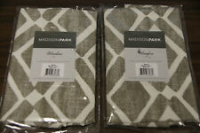 New- (2) Madison Park Natalie Printed Diamond Window Valances 50 W X 18 L
