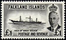 Falkland Islands 1952 £1 Black   SG.185  Mint (MNH)  Cat:£40