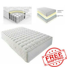 FULL Size Mattress 8 Inch Luxury Adult Bedroom Coil Spring Back Pain Relief Bed