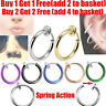 Fake Spring Clip On Nose Ring Hoop Lip Ring Helix Ring Hoop Ear Fake Ring Hoop