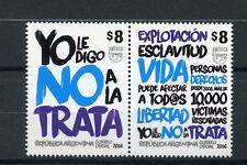 Argentina 2016 MNH UPAEP Against Violence 2v Se-tenant Stamps