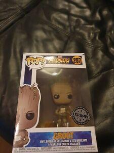 Groot with game funko pop Vinyl Exclusive Avengers Infinity War 297