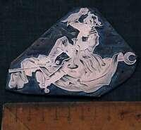 MANN m. TROMPETE  Galvano Druckplatte Klischee Eichenberg printing plate copper