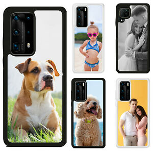 Personalised Single Photo Hard Rubber/TPU Phone Case Cover for Huawei P40 P30P20