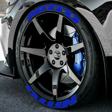 """NITTO FULLSET 8pieces Tire Letters decal stickers HIGH QUALITY 14"""" to 22"""" BLUE"""
