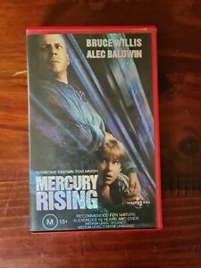 Mercury Rising VHS Bruce Willis and Alec Baldwin Classic Crime/Thriller