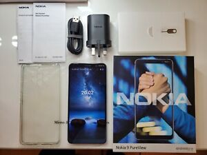 Nokia 9 PureView - 128GB - Indigo Blue - (Factory Unlocked) - Android 10 ONE!
