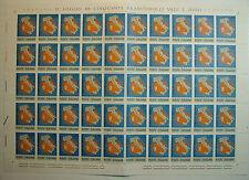 1965  ITALIA 20 lire  Giornata del Francobollo   foglio  intero MNH**