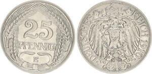 Kaiserreich 25 Pfennig J.18 1910 E vz-st 50903