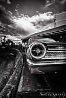 12x18 in. Hot Rod Poster, 1963 Ford Galaxie 500 Race Car, Garage Art Man Cave