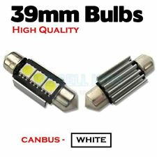 BMW E46 E39 E60 E90 Xenon White LED 39mm Number Plate Lights Bulbs - Error Free