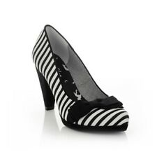 Ruby Shoo Susanna Black Stripe Size 5 RRP £60 Other sizes available