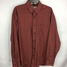 ENRO - Red Check Long Sleeve Button Front NON IRON Dress Shirt size L Mens