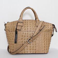 Claudia Firenze Embossed Italian Croc Leather Satchel Shopper Handbag Tote NWT