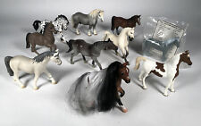 """HORSES Lot Of 10 Figures Schleich Breyer Reeves Green Brier Funrise 3"""" - 4 1/2"""""""
