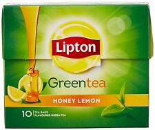 2x Lipton Honey Lemon Green Tea Bags - 10 Pieces Pack