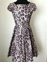 Eliza J Women's Fit And Flare Dress Elegant Size 2 animal print